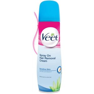 Veet Spray On Hair Removal Cream for Sensitive Skin 150ml