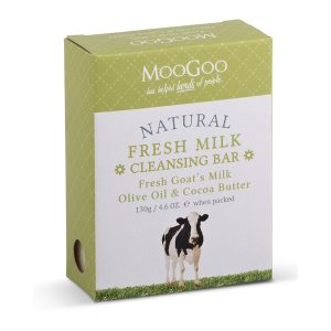 Moogoo Goats Milk Hydrating Cleansing Bar Soap 130g