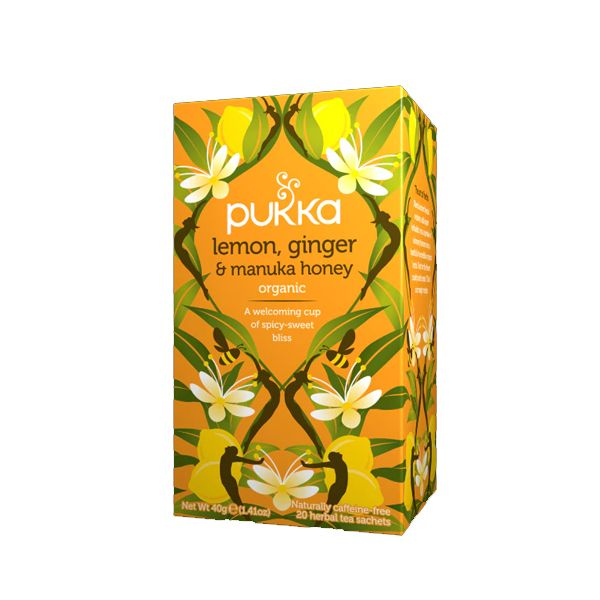 Pukka Lemon, Ginger & Manuka Honey Tea – 20 Tea Bags