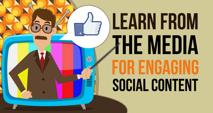 Learn from the media for engaging social content