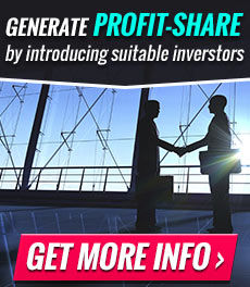Generate profit-share by introducing suitable investors