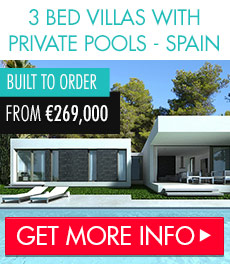 Stunning private pool villas in Costa Blanca Spain from just 269,000 Eur.