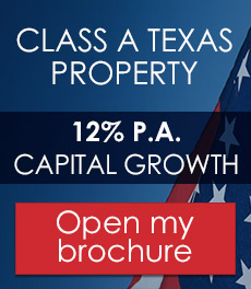 Texas - USA - 12% per year capital growth and 5% annual rental increase