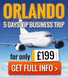 Book a 5 day VIP business trip to view property in Orlando for 199GBP for April/May