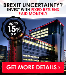 Returns of up to 15% p.a* paid monthly, from £30k