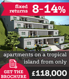 Luxury apartments on a tropical Islando