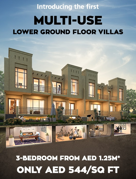 3 bedroom from AED 1.25M