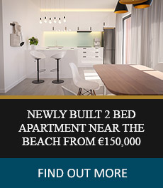 Newly Built 2 Bed Apartment near the Beach from €150,000