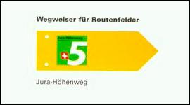 Signalisation Jura-Höhenweg