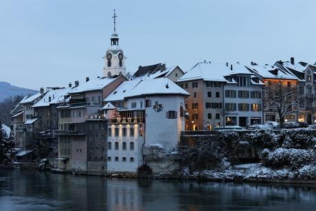 Historische Altstadt im Winter