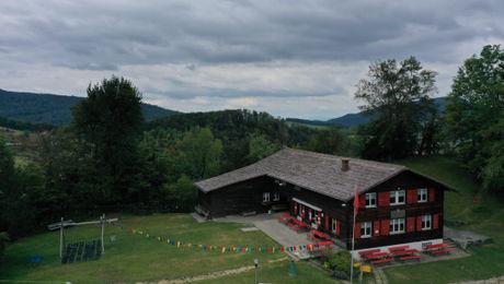 Sicht auf das Naturfreundehaus