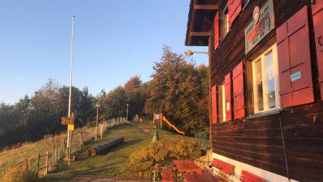 Sonnenuntergang am Naturfreundehaus