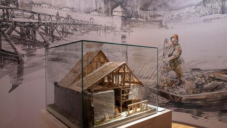 Das mittelalterliche Altreu mit einem Hausmodell