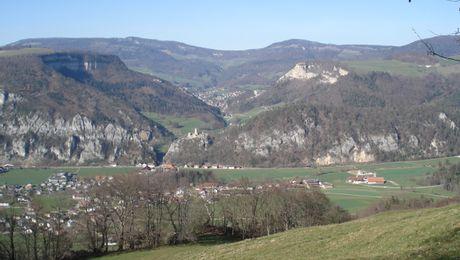 Blick auf Balsthal in Richtung Wasserfallen