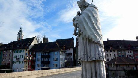 Laufenburg mit dem Brückenheiligen Nepomuk