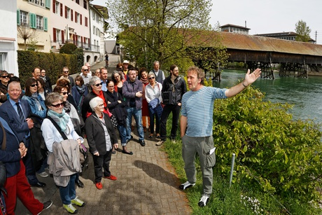Schweizer Schriftstellerweg, Tour mit Alex Capus
