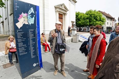 Eröffnung Schweizer Schriftstellerweg, Tour mit Franz Hohler