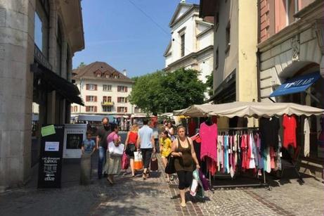 Marktstände in der Kirchgasse