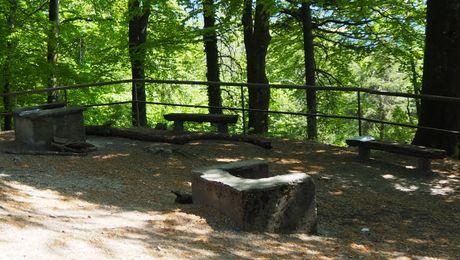 Picknick-Platz bei der Ruine Alt-Wartburg