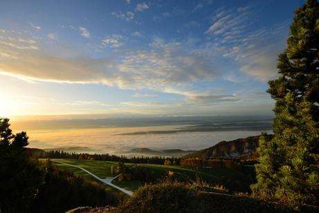 Aussicht vom Weissenstein auf das Nebelmeer