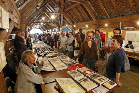 Kunstmarkt auf der alten Holzbrücke