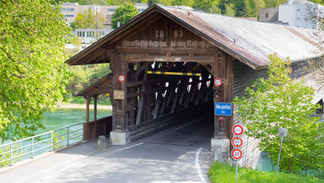 Holzbrücke in Fulenbach