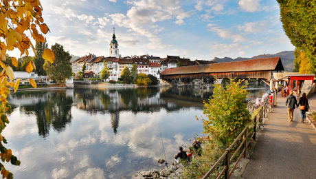 Historische Altstadt im Herbst