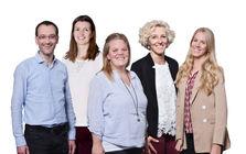 von links nach rechts: Stefan Ulrich, Merle-Christin Böcker, Sonja Eichler, Cornelia Flury, Nadine Peduzzi