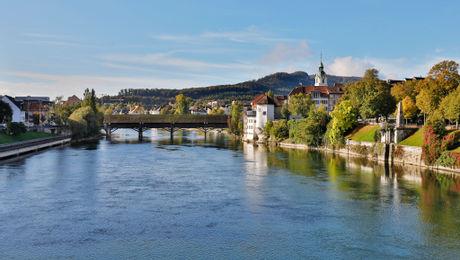 Oltner Altstadt mit Holzbrücke