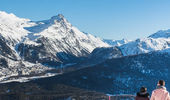 Winterwandern auf Corviglia. Credits: Engadin St. Moritz Mountains/Michele Iosi