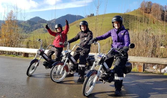 Moped Tours at Atzmännig Mountain, Valley of Goldingen