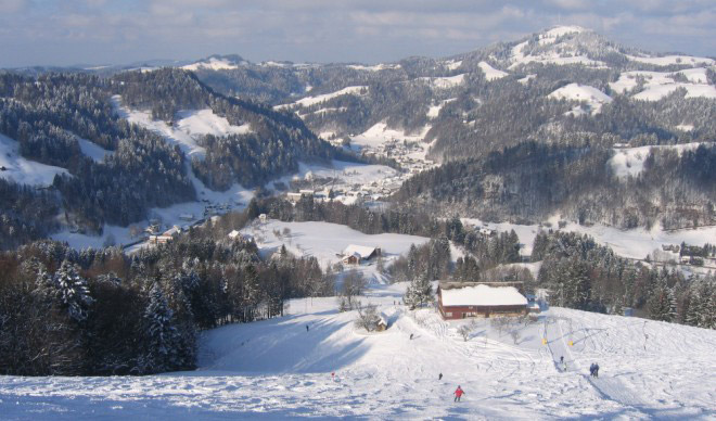 Steg Ski Area in the Töss Valley