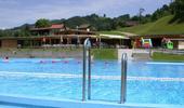 Schwimmbad Steg