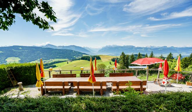 Offene Terrassen im Zürioberland