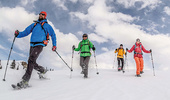 Snowshoe hiking tours