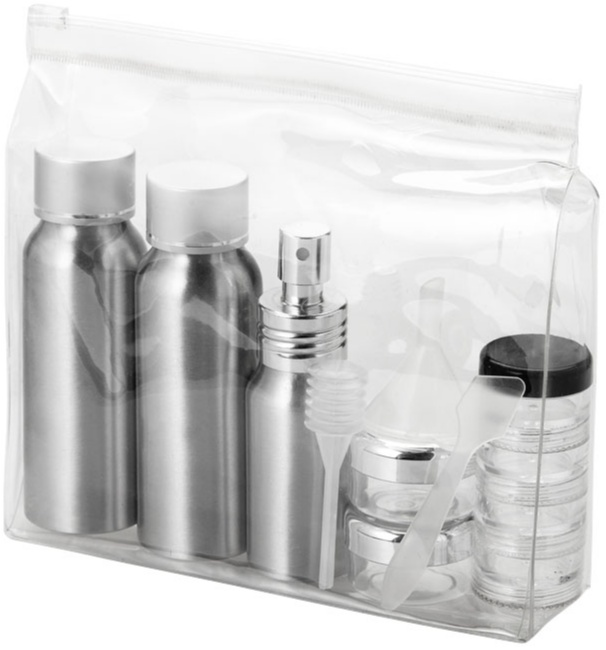 flygplansgodkänd flaska / necessär med tryck