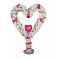Dekorationsställ ballonger hjärta