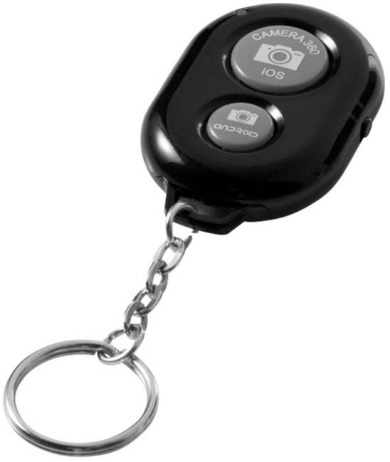 Nyckelring med Bluetooth®-kameraavtryckare med tryck | Beställ online från Reklambutiken