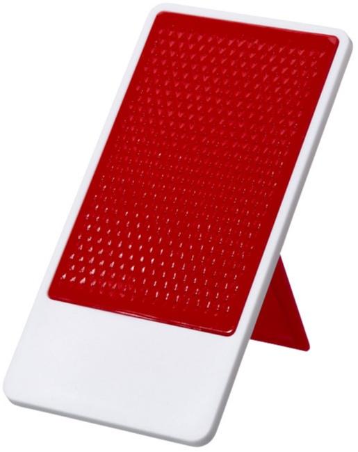 Smartphoneställ med reklamtryck, bra och billig giveaway med tryck perfekt för skrivbordet. En uppskattad giveaway för kontorsarbetare och butikssäljare. Enkel översikt av mobil.