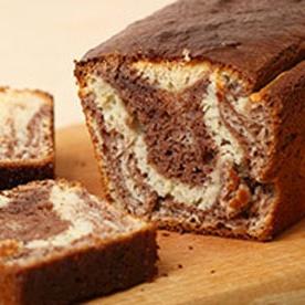 Marbré au yaourt chocolat noisette