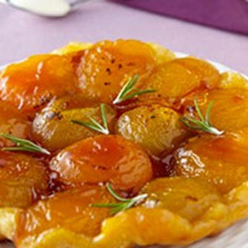 Mini-tatins aux abricots et romarin