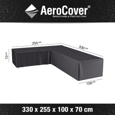 AeroCover AeroCover hoes loungeset L-vorm 330x255x100xH70 cm Links