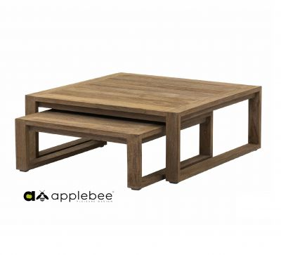 Applebee Applebee Antiqua coffee tafel set van 2