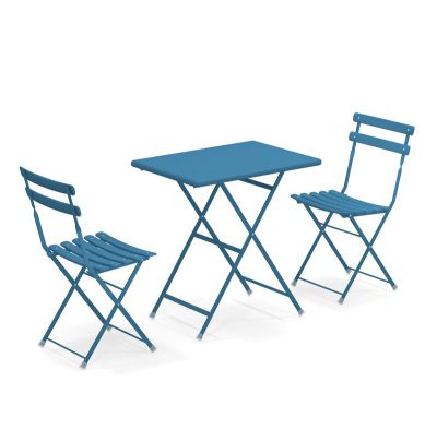 Emu Arc en Ciel bistro set Blue