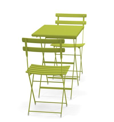 Emu Arc en Ciel bistro set Green