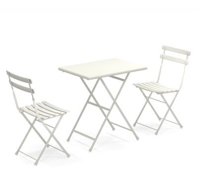 Emu Arc en Ciel bistro set Matt White