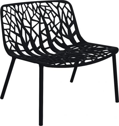 Fast Forest lounge stoel Black