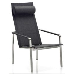 Solpuri Solpuri Jazz Deck Chair RVS/ Softex