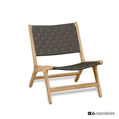 Applebee Applebee Luc Lowback lounge stoel Charcoal