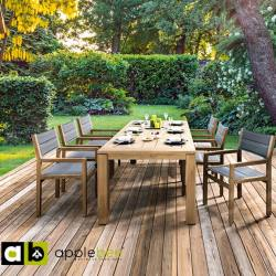 Applebee Applebee Oxford tafel Naturel teak